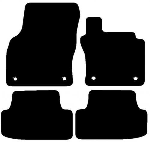 VW GOLF MK7 FITS YEARS 2013 TO PRESENT DATE THIS IS A FOUR PIECE SET WITH FLOOR FIXING CLIPS  IN THE DRIVER & PASSENGER MATS PLEASE CHECK YOUR MODEL IS A MK7 NOT A MK6