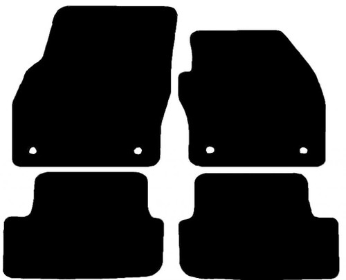 VW POLO FITS YEARS 2018 TO PRESENT DATE THIS IS A FOUR PIECE SET WITH FLOOR FIXING CLIPS IN THE DRIVER & PASSENGER MATS