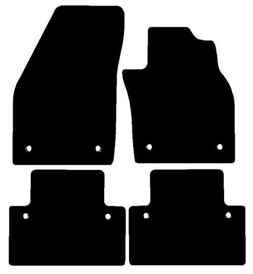 VOLVO C30 AUTOMATIC FITS YEARS 2007 TO 2013 THIS IS A FOUR PIECE SET WITH FLOOR FIXING CLIPS IN ALL FOUR MATS