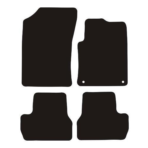 CITROEN DS3 CAR MATS  YEARS 2009 TO 2016  THIS IS A FOUR PIECE SET WITH FLOOR FIXING CLIPS IN THE DRIVERS MAT