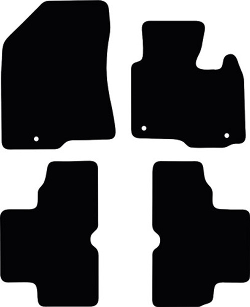 KIA CARENS FITS YEARS 2013 TO PRESENT DATE THIS IS A FOUR PIECE SET WITH FLOOR FIXING CLIPS  IN THE DRIVER & PASSENGER MATS