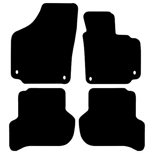 SEAT TOLEDO FITS YEARS 2006 TO 2008 THIS IS A FOUR PIECE SET WITH FLOOR FIXING CLIPS IN THE DRIVER & PASSENGER MATS