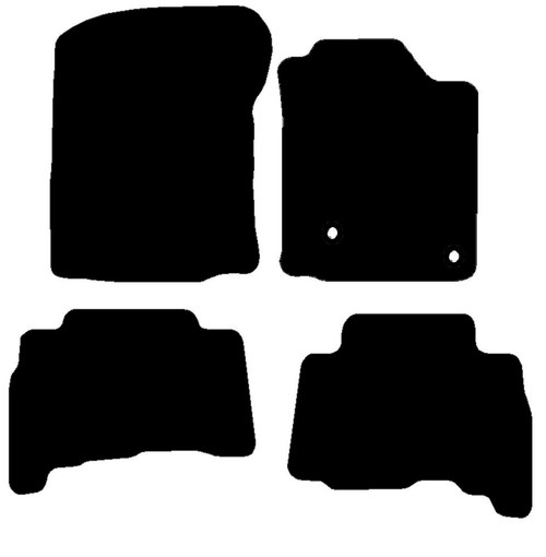 TOYOTA LAND CRUISER FITS YEARS 2010 TO 2013 THIS IS A FOUR PIECE SET WITH FLOOR FIXING CLIPS IN THE DRIVER MAT