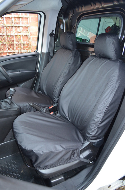 FIAT DOBLO VAN 2010 TO 2018 DRIVER AND PASSENGER  TAILORED SEAT COVERS HEAVY DUTY
