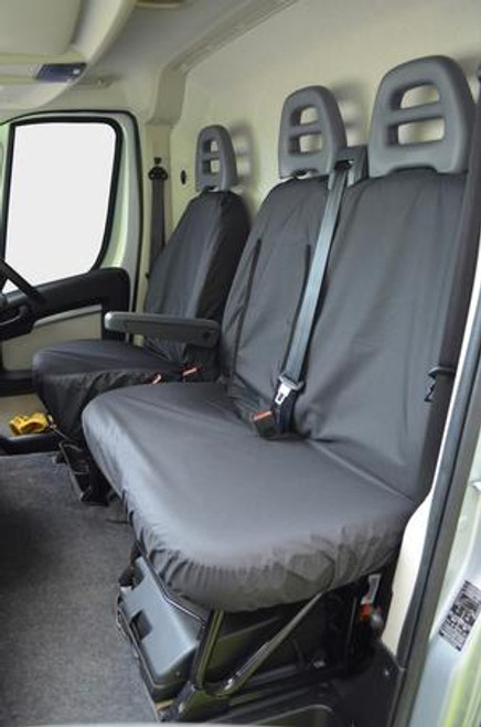 FIAT DUCATO VAN 2006 TO DATE  TAILORED DRIVER AND TWIN PASSENGER SEAT COVERS HEAVY DUTY