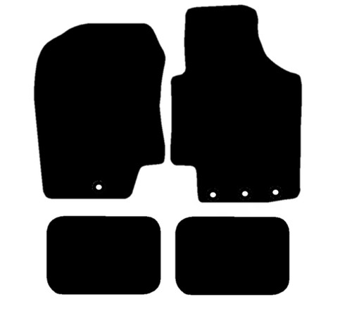 HYUNDAI I-20 FITS YEARS 2009 TO 2014 THIS IS A FOUR PIECE SET WITH 3X FLOOR FIXING CLIPS IN THE DRIVERS MAT AND 1X FLOOR FIXING CLIP IN THE PASSENGER MAT