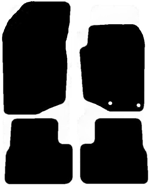 THIS IS A FOUR PIECE SET WITH TWO FLOOR FIXING CLIPS PROVIDED IN THE DRIVERS MAT