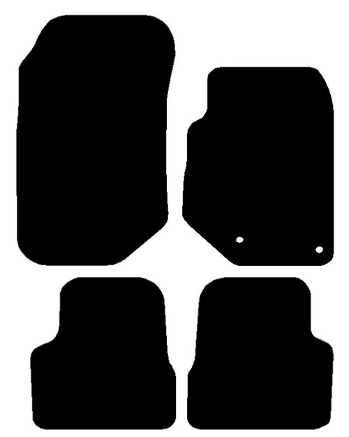 VAUXHALL CORSA F YEARS 2019 TO PRESENT DATE THIS IS A FOUR PIECE SET WITH FLOOR FIXING CLIPS IN THE DRIVERS MATS