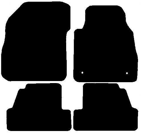 VAUXHALL MOKKA X FITS YEARS 2017 TO PRESENT DATE THIS IS A FOUR PIECE SET WITH FLOOR FIXING CLIPS IN THE DRIVERS MATS