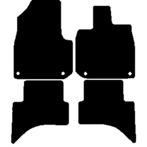 HONDA E CAR MATS YEARS 2020 TO PRESENT THIS IS A FOUR PIECE SET WITH FLOOR FIXING CLIPS IN THE DRIVER & PASSENGER MATS