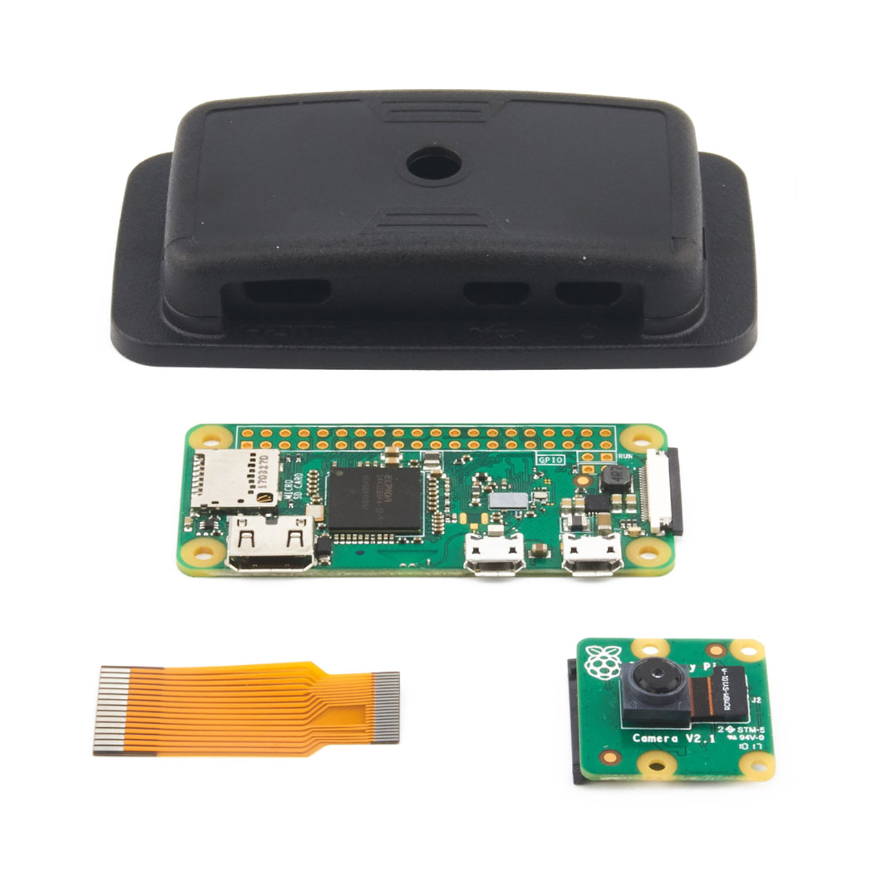 Power Adapter Official Pi Zero Case and Basic Components Development Kit Type B with Micro SD Card Built-in WiFi waveshare Raspberry Pi Zero W