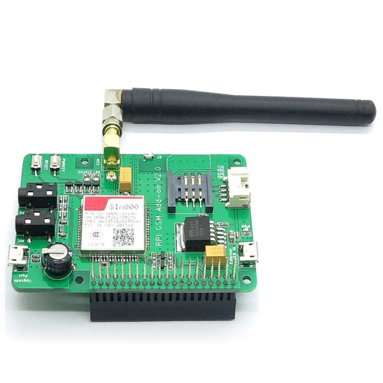 Sim800 Board with GSM/GPRS, SMS for Raspberry Pi
