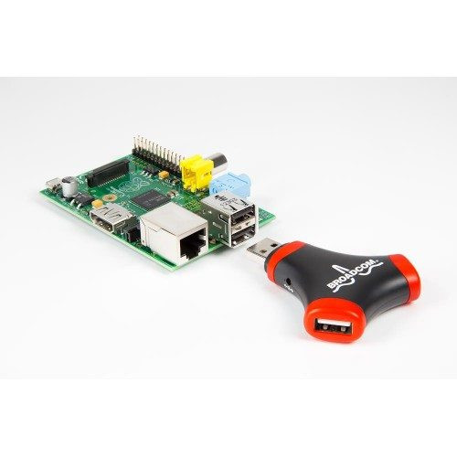 Broadcom WiFi Adapter and 2 Port USB Hub for Raspberry Pi
