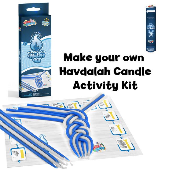 Make Your Own Blue & White Havdalah Candle