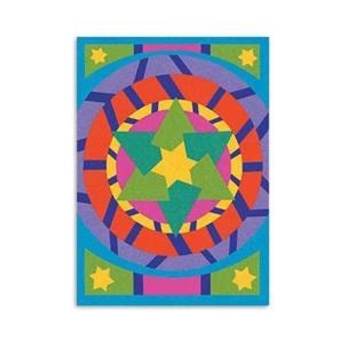 Star of David Sand Art SINGLE Board with Sand