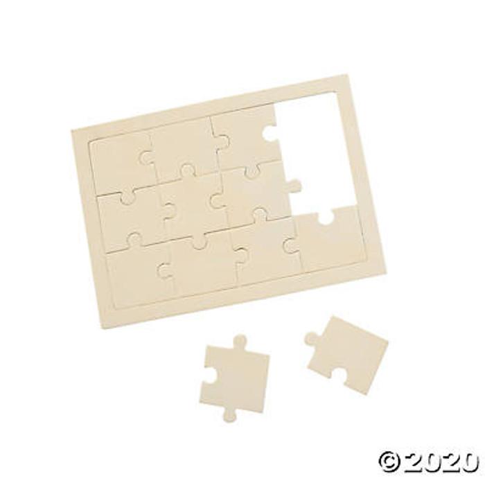 """SINGLE Unfinished Wood DIY 5"""" x 7"""" Puzzle"""