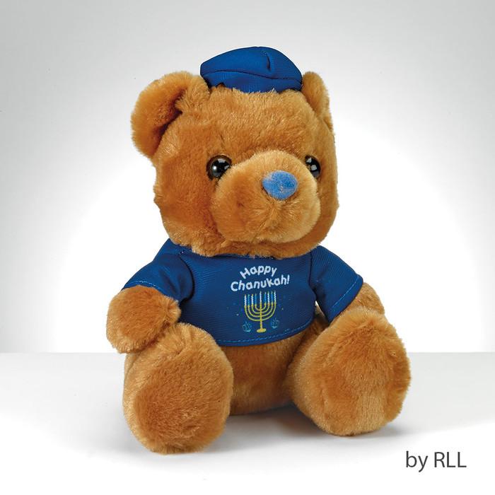 """""""Happy Chanukah"""" Teddy Bear with T-Shirt"""
