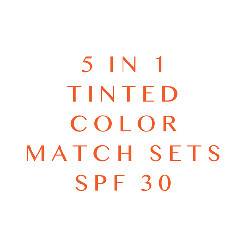 5 in 1 Tinted Sunscreen - Color Match Set