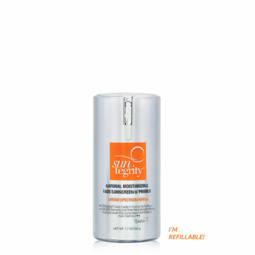 Suntegrity Natural Moisturizing Face Sunscreen & Primer - Broad Spectrum, SPF 30. This product now offers a refill option as well.
