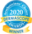 """The Suntegrity Natural Mineral Body Sunscreen was awarded the prestigious Dermascope Aestheticians' Choice Award in 2020. This is an image of the """"winners"""" logo."""