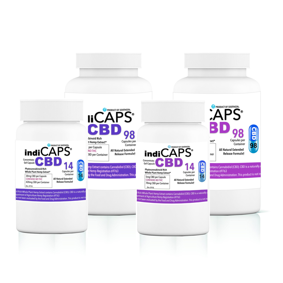 indiCAPS® CBD Capsules