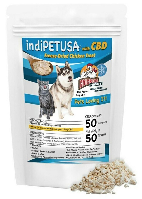 indiWOOF® Dog CBD Chicken Treats 50g Only