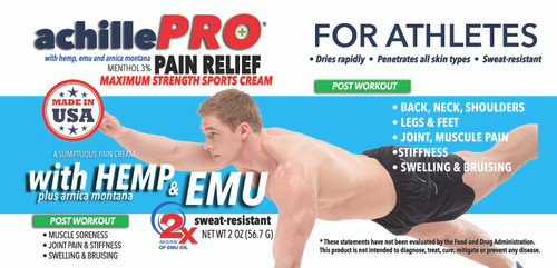 achillePRO® Post-Workout Cream • ALL OPTIONS