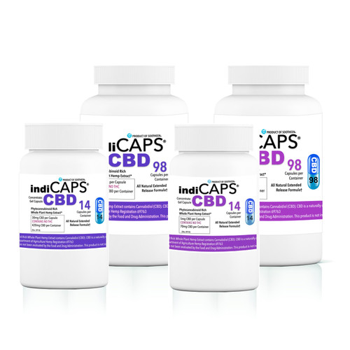 indiCAPS® CBD Capsules  •  ALL OPTIONS