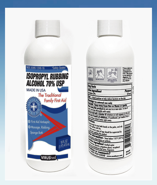 VIRUShed® Isopropyl Rubbing Alcohol 70% USP 16 FL. OZ.
