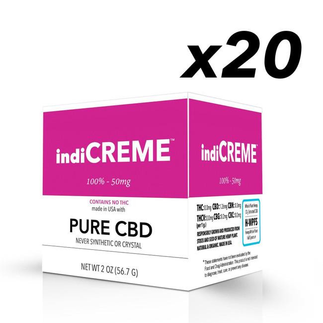 indiCREME® Pure CBD 2oz - BULK