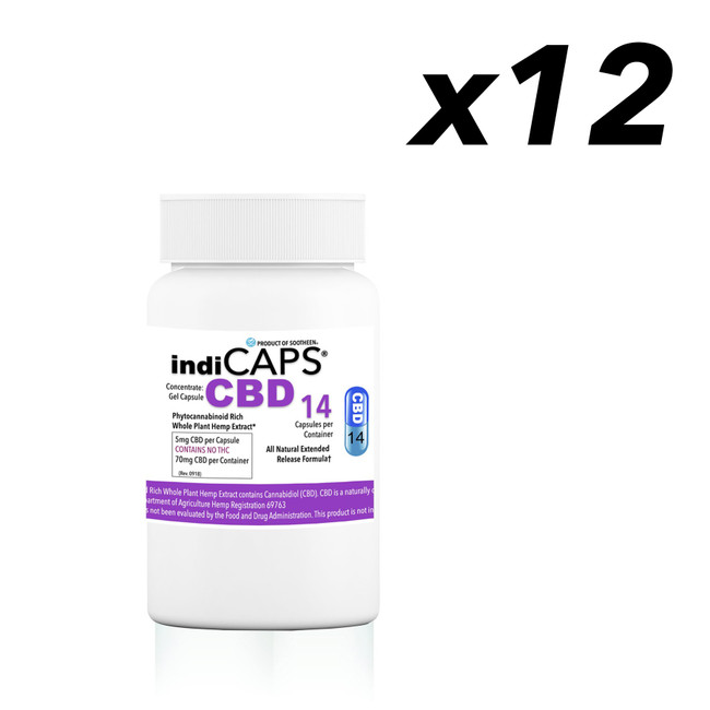indiCAPS® CBD 14 Capsules - BULK