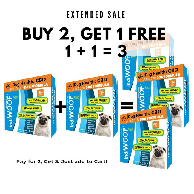 1 +1 = 3   indiWOOF® CBD for Dogs - Oil Only