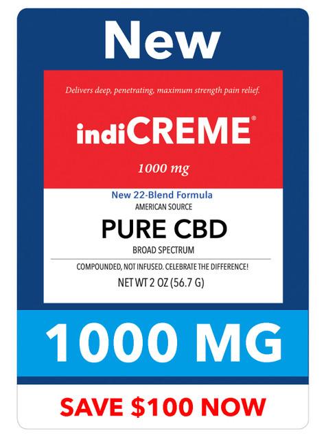 indiCREME® PURE CBD 1000 mg / 2oz