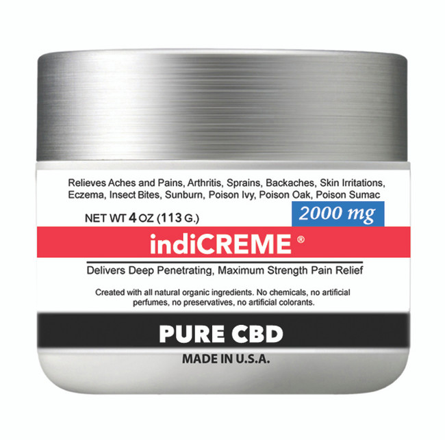 indiCREME® PURE CBD 2000 mg / 4oz
