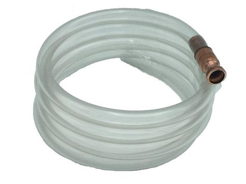 3/4 inch Premium 10-foot siphon has the following features: Up to 6 Gallons per minute flow rate. Great for diesel, 55 gallon drums, and large volume of liquids. 100% Made and Manufactured in the U.S.A.