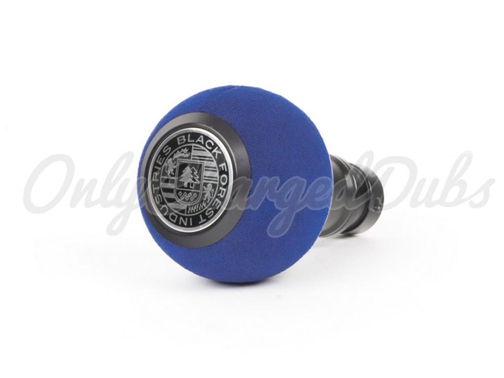 VW/Audi BFI Heavy Weight Shift Knob - Black Anodized - Blue Alcantara