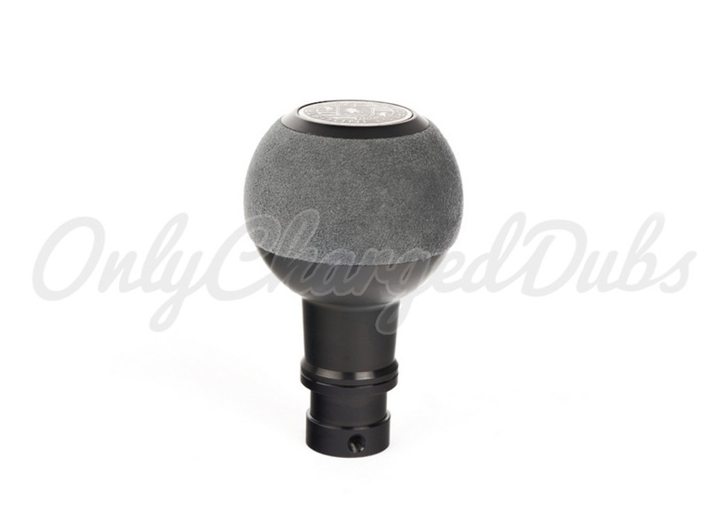 VW/Audi BFI Heavy Weight Shift Knob - Black Anodized - Gray Alcantara