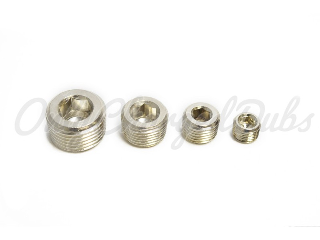 Nickel Metal - Allen Key Air Tank Plugs
