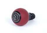 BFI Heavy Weight Shift Knob Schwarz - Magma Red Air Leather (Porsche Fitment)