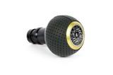 BFI Heavy Weight Shift Knob Schwarz - Black Air Leather x Gold Top (Porsche Fitment)