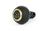 VW/Audi BFI Heavy Weight Shift Knob Schwarz - Black Air Leather - Gold Top