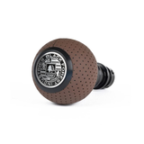 BFI Heavy Weight Shift Knob Schwarz - Nougat Brown Air Leather (Porsche Fitment)