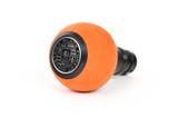 BFI Heavy Weight Shift Knob Schwarz - Orange Alcantara (Porsche Fitment)