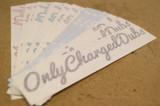 OCD Script Sticker