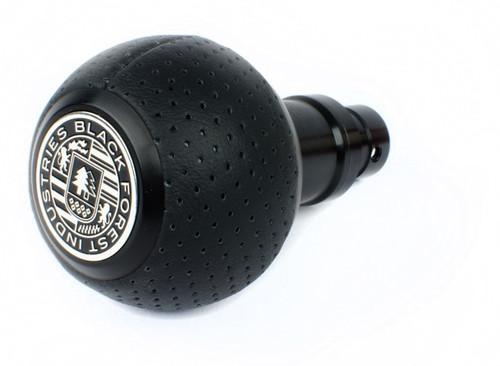 MINI BFI Heavy Weight Shift Knob - Full Billet Schwarz/Air Leather
