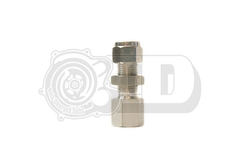 """3/8"""" OD - 1/4"""" Female NPT Bulkhead Compression Stainless Fitting"""