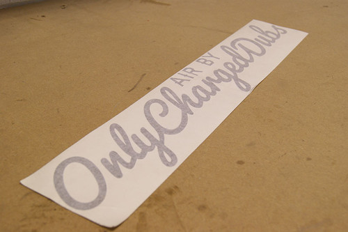 Air By OnlyChargedDubs Windscreen Banner Sticker