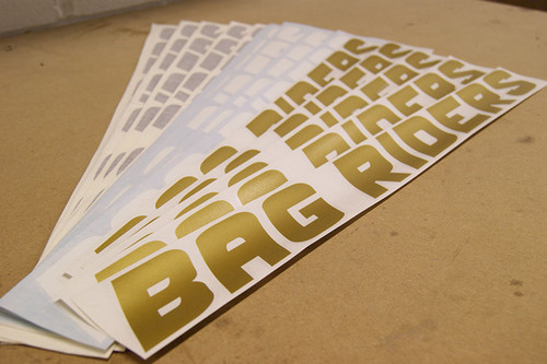 BagRiders Windscreen Banner Sticker