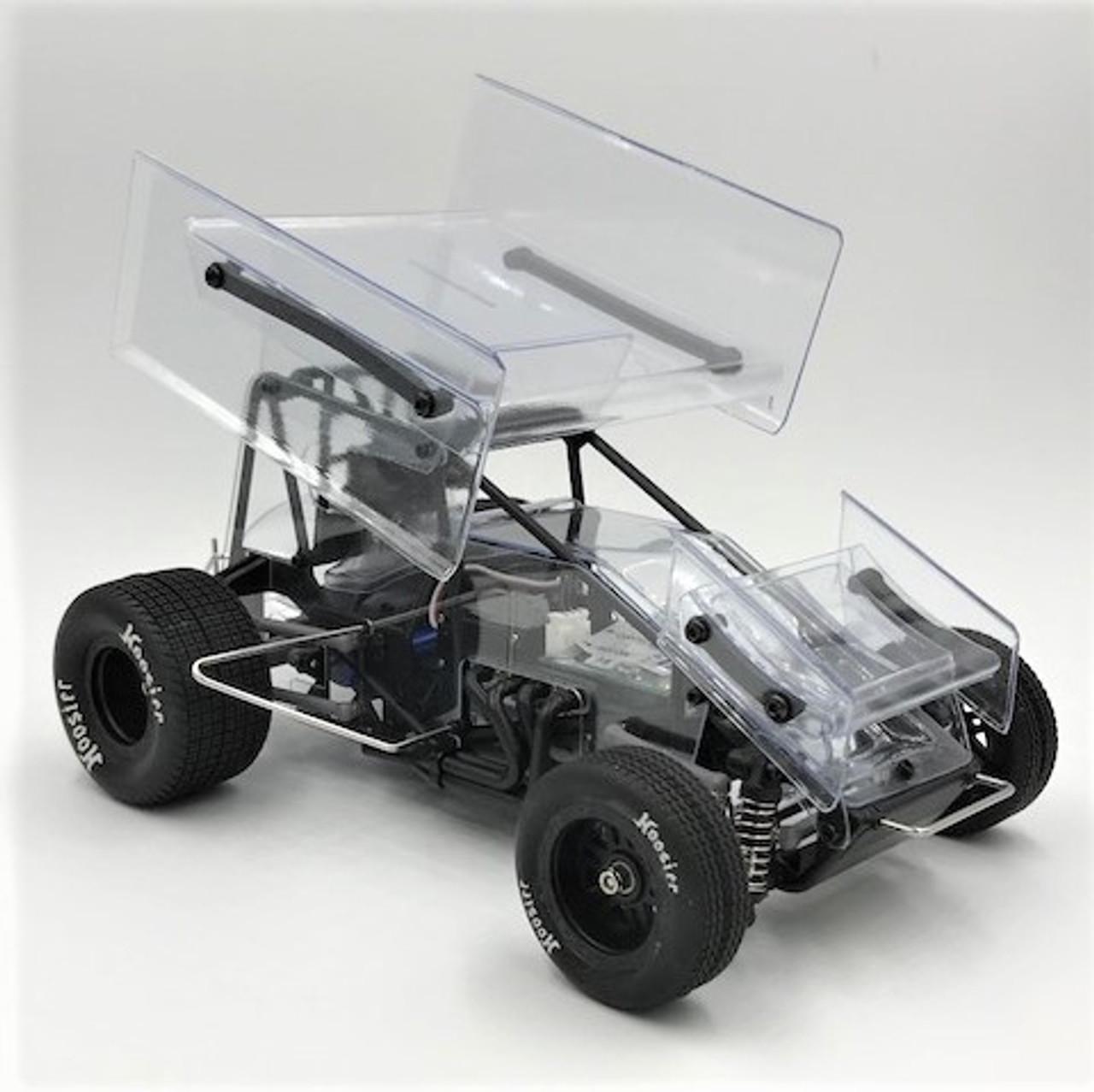 1/18 Sprint Car, Clear, RTR