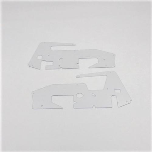 Body Side Panels, LH/RH, Clear, 1/18 Sprint